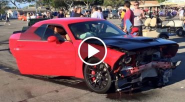 street race crash hellcat