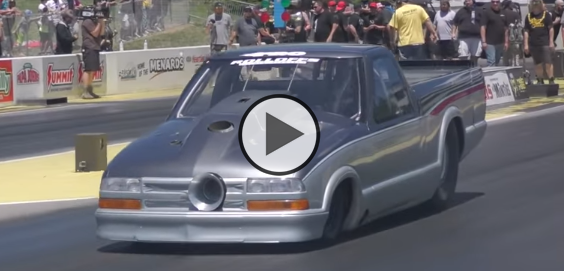 Larry Larson New 136mm Turbo in Action at no prep kings 2